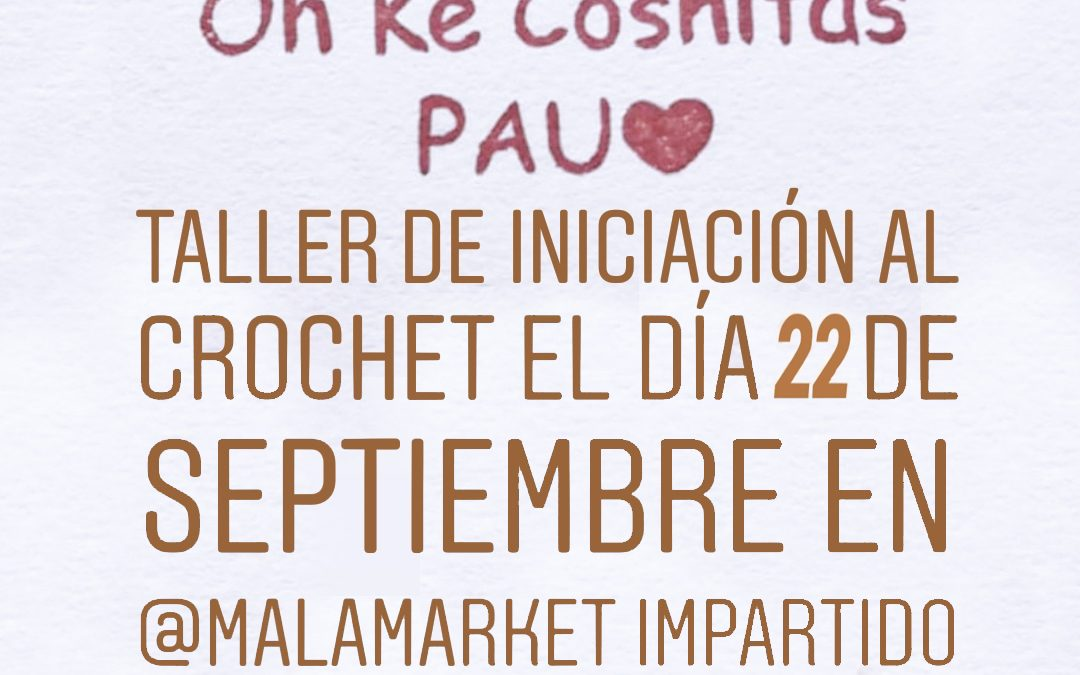 Taller de crochet el 22 de septiembre